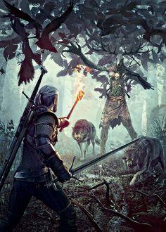 Geralt & Leshen Key Art