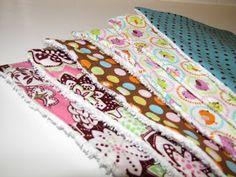 lil Mop Top: Burp Cloth Tutorial