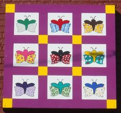 Butterfly Block - Kathy's Korner Cafe - Kingsport, TN - Painted Barn Quilts on Waymarking.com