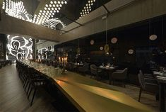 Asian Restaurant with Interactive Light Installation