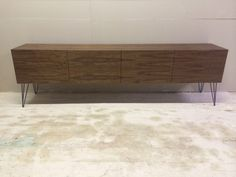 Walnut Retro Sideboard/Cabinet With Hairpin Legs | eBay £550  20 red