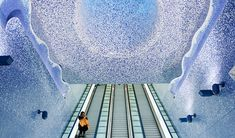 15+ Of The Most Beautiful Metro Stations In The World -  - Toledo Metro Station, Naples, Italy.