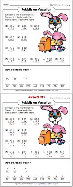 Check out these clever math riddle worksheets!