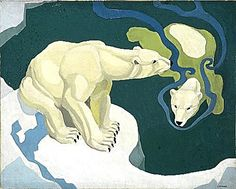Polar Bears, circa 1934 by Raymond Sheppard (English 1913-1958)