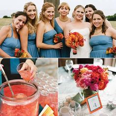 wedding color schemes for october | like this shade of blue