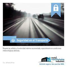 Te recomendamos respetar las señales y la velocidad máxima recomendada, especialmente en condiciones meteorológicas adversas. #Seguridad #Viajes