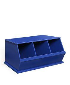 Loving this Blue Three-Bin Storage Cubby on #zulily! #zulilyfinds