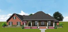 Southern House Plan with Bonus Space - 83872JW | 1st Floor Master Suite, Acadian, Bonus Room, Butler Walk-in Pantry, CAD Available, Corner Lot, Den-Office-Library-Study, Jack & Jill Bath, PDF, Southern, Split Bedrooms | Architectural Designs