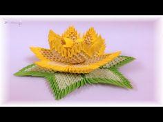 3d origami - lotus - YouTube