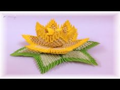 3d origami - lotus - YouTube