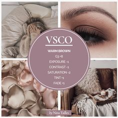 How to create an Instagram theme with VSCO app. Warm Brown theme