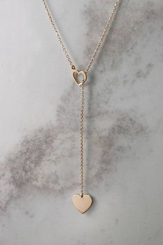 Heart Necklace Gold Necklace Yellow Gold 14 Karat by TalesInGold Cute Jewelry, Gold Jewelry, Jewelry Accessories, Jewelry Design, Bullet Jewelry, Girls Necklaces, Jewelry Necklaces, Heart Necklaces, Pearl Bracelets