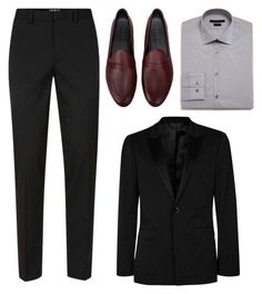"""Menswear"" by cherieaustin ❤ liked on Polyvore featuring Topman, John Varvatos * U.S.A., Galet, men's fashion and menswear"