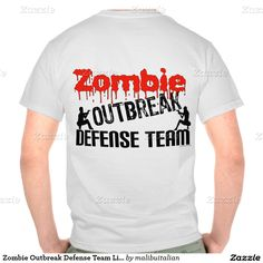 Zombie Outbreak Defense Team Light Background T Shirts