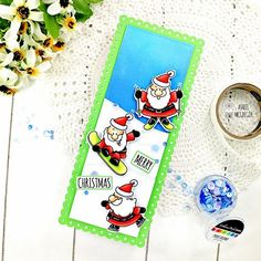 Go Santa, GO....!! Fun Christmas Card for someone who loves sports and Santa Christmas Sentiments, Diy Christmas Cards, Christmas Fun, Holiday Cards, Santa Stamp, Cardmaking And Papercraft, Cute Pumpkin, Cat Cards, Autumn Theme