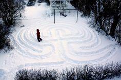 Ice & Snow ~ Make a Labyrinth