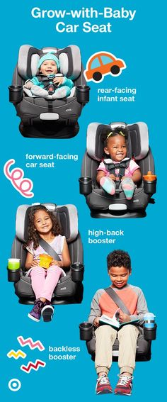 The Graco 4Ever 4-in-1 Convertible Car Seat is the only seat you'll need! This seat transitions from rear-facing infant seat to a forward-facing car seat to a high-back booster, and lastly, a must-have backless booster. It's side-impact tested and has a steel-reinforced frame, plush inserts and an easy-to-read level indicator to making installation a snap. This car seat is a must-have for your Target Baby Registry.