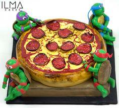 Teenage Mutant Ninja Turtles and Pizza cake