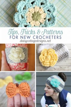Easy crochet patterns, tips, and tricks for new crocheters from Daisy Cottage Designs. Resources, free patterns, tutorials, and more!