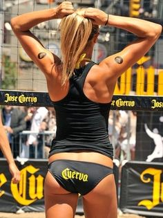 Oh to have the body of an Olympic volleyball player! One day at a time.
