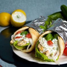 Lea's Cooking: Chicken Gyros and Tzatziki Sauce Recipe