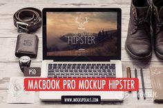 MacBook PSD Mockup Hipster by Mocup, mockupdeals.com on Creative Market