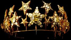 The Diadem of the Stars (Portuguese: Diadema das Estrelas) is a Diamond Tiara originally commissioned by Queen Consort Maria Pia of Savoy, who had a love for jewelry and fashion. It is a piece of the Portuguese Crown Jewels.