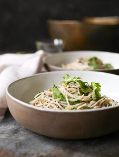 Seedy Soba Noodles with Asian Herbs- Domesticate ME!