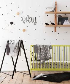 Love this modern style kids room.