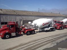 Me worthy pulling slider mixers for Central Concrete.