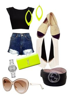 Neon by tamara-katharina on Polyvore featuring polyvore, fashion, style, Alice + Olivia, Chanel, Yves Saint Laurent, Burberry, Alexis Bittar, Gucci, Christian Dior, Topshop and clothing