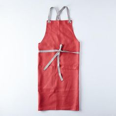 100% linen with cotton twill ties. #food52