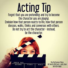 Tip: Forget that you are and try to become the yo. - -You can find Acting tips and more on our website. Acting Lessons, Acting Class, Voice Acting, Acting Tips, Acting Skills, Acting Career, Drama School, Drama Class, Audition Monologues