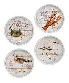 Take a look at this Beach Cottage 10.5 Dinner Plate Set by Certified International on #zulily today!