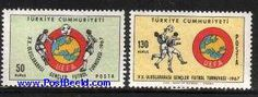 Youth football games 2v, Country: Turkey, Year: 1967, Product code: stup2042, Nr. Michel: 2042/43, Nr. Scott: 1739/40, Nr. Yvert: 1827/28