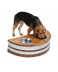 Wine Barrel Dog Feeder - Gift idea for pet owner
