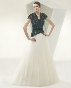 Elegant V-hals Tule Applique Bruidsjurk Online Bridal Dresses Online, Wedding Dresses 2014, Cheap Wedding Dress, Designer Wedding Dresses, Bridal Gowns, Wedding Gowns, Luxe Wedding, Dream Wedding, Bridesmaid Dresses