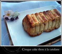 A l'origine, cette recette de Maike était un croc'cake aux 4 fromages, qu'elle avait pioché chez Miam Maman Cuisine une version originale au roquefort. Quand j'ai fait mon pain de mie au levain Kayser de Patchouka, j'avais dans l'idée de faire cette recette....