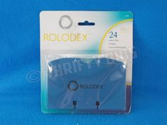 Rolodex 24 A Z Index Tabs Refill For Rotary Or Card File 3x5 Blue 67657