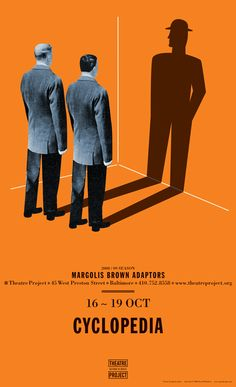 Cyclopedia, promotional poster for the Baltimore Theatre Project's 2008-09 season. David Plunkert, art director
