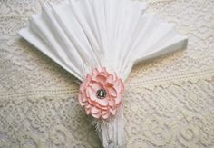 Peony Napkin Ring  Pink Satin Napkin Ring  Peony by IDoDoodads, $11.95