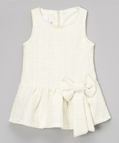 Look at this #zulilyfind! Blossom Couture Ivory Wool-Blend Dress - Toddler & Girls by Blossom Couture #zulilyfinds