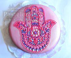 Hamsa Cake, mano de fatima, jamsa, ojo turco, mandala cake,