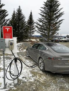 A Tesla charging station in Vermont. vtliving.com