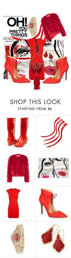 """red"" by meryaaa ❤ liked on Polyvore featuring Forever Young, Oliver Gal Artist Co., Alexander McQueen, Daya, Rolex, Kendra Scott and RED Valentino"