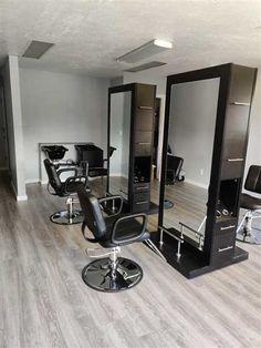 """CRETE"" Double Sided Salon Station - Salon Equipment, Salon Furniture, Salon Styling Stations Hair Salon Stations, Salon Styling Stations, Salon Styling Chairs, Salon Chairs, At Home Salon Station, Home Hair Salons, Pinterest Room Decor, Salon Mirrors, Barber Shop Decor"