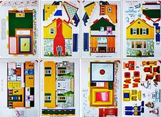 Vintage Doll House Paper Model With Furniture