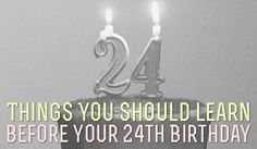 I'm 22..and already realising half these things are awfully true!!