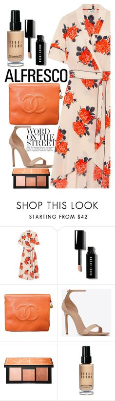 """""""Untitled #1776"""" by mihai-theodora ❤ liked on Polyvore featuring Ganni, Bobbi Brown Cosmetics, Chanel, Yves Saint Laurent and NARS Cosmetics"""