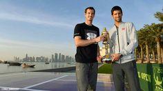 Andy Murray and Novak Djokovic #Doha #2017